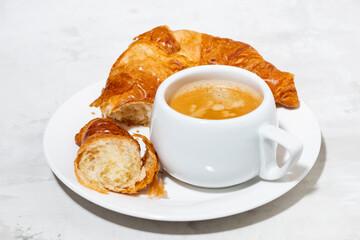 espresso and fresh croissants