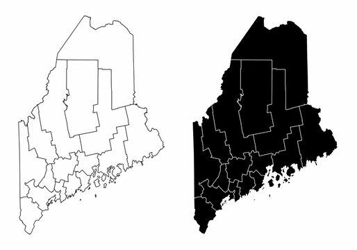 Maine county maps