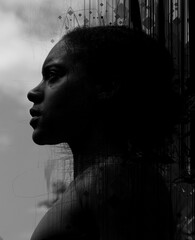 Moody portrait of a beautiful African woman