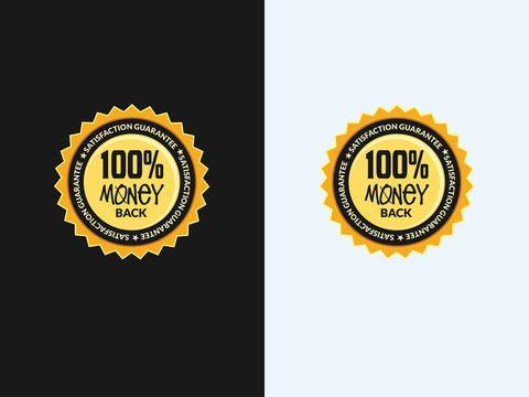vector guarantee icon logo emblem 100% money back guarantee