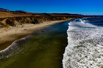 San Simeon Kite Boarding during lunch Central Coast California PCH Pacific Coast Highway 101 Highway One