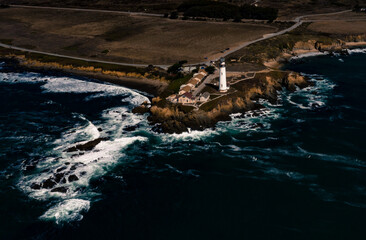 Pigeon Point Lighthouse PCH hostel fall day beach Highway One Pacific Coast Highway Central California