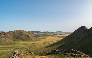 hills landscape in rural areas