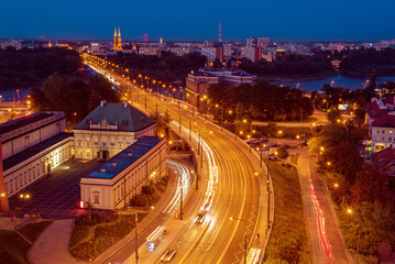 City of Warsaw by night