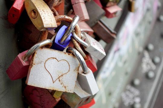 Love locks on Hohenzollern bridge Germany
