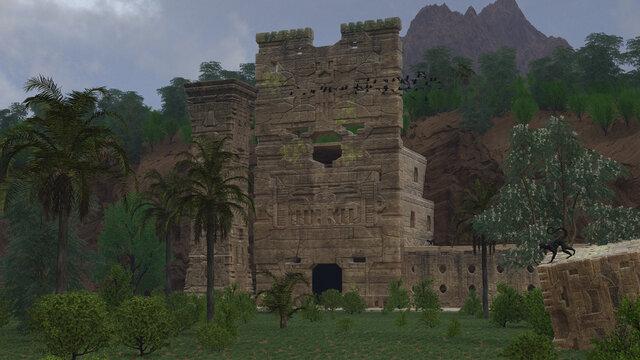 Ruinas Aztecas en la jungla