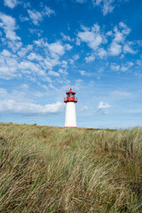 Wall Mural - Lighthouse at the beach, Sylt, Schleswig-Holstein, Germany