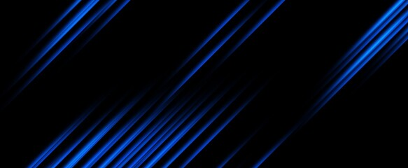 Photo sur cadre textile Fractal waves Dark blue abstract concept polygonal tech background.