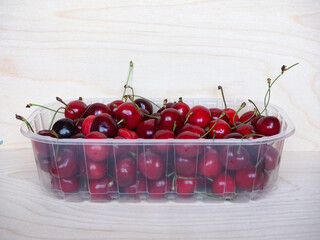 red cherry basket