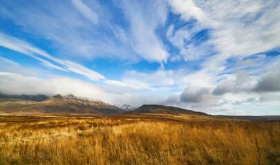 Iceland Reykjavik landscape mountain panorama summer scenic beautiful islandic nature outdoor