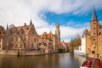 Printed kitchen splashbacks Bridges Bruges, Belgium Night Scene