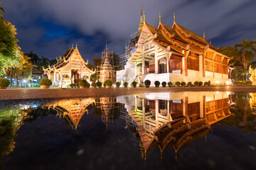 Fototapete - Wat Phra Singh in Chiang Mai, Thailand