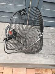 HEILIGENHAUS, NRW, GERMANY - JUNE 28, 2020: Vintage bicycle with basket