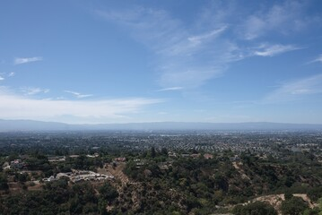 Aerial shot of the Alum Rock Park located in the district of San Jose California, USA