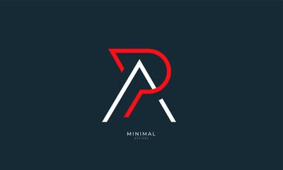 Obraz Alphabet letter icon logo PA or AP - fototapety do salonu
