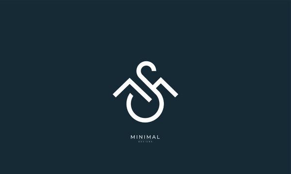 Alphabet letter icon logo MS or SM