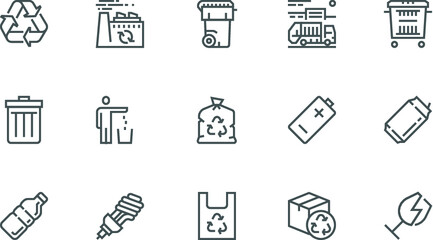 Business people, human resources, office management - thin line web icon set. Outline icons collection. Simple vector illustration - icon illustrator for illustrator and corel draw