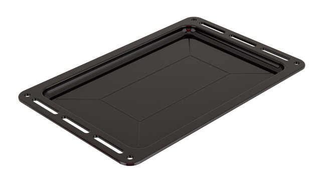 Baking cookie sheet, drip pan. 3D rendering