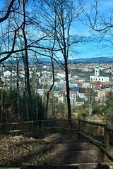 Czech Republic-view of the town Trutnov and Giant Mountains