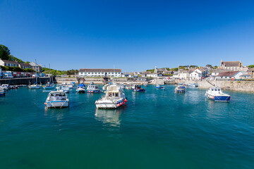 Fototapete - Summer at Porthleven Cornwall England UK Europe