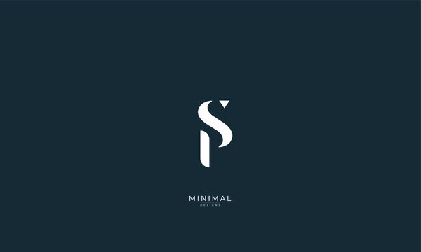 Alphabet letter icon logo PS or SP