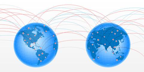 Pair globes linking