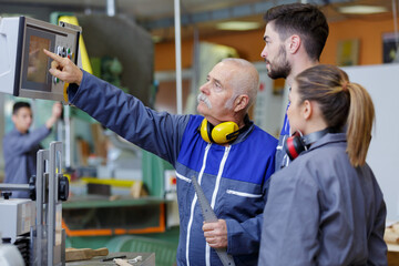apprentice electrical engineers in cable finishing factory