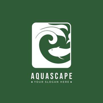 Aquascape logo design. Vector logo design for aquascape brand