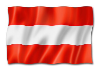 Austrian flag isolated on white