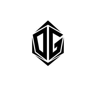 Initial DG logo design, Initial DG logo design with Shield style, Logo business branding.
