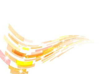 オレンジ色の幾何学模様の抽象波形背景イメージ Wall mural