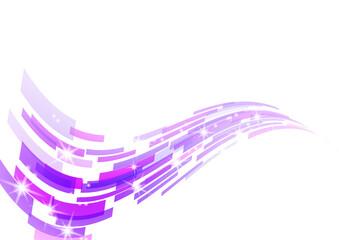紫色の幾何学模様の抽象波形背景イメージ Wall mural