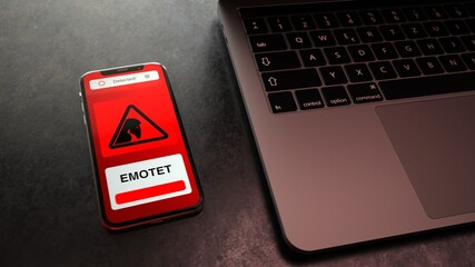 Smarthone Notebook Emotet Trojaner