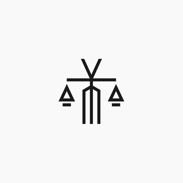 legal M logo. law logo