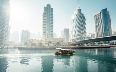Fotomurales - Dubai Marina at morning, United Arab Emirates