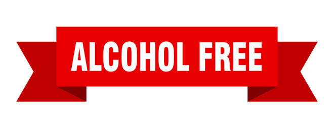 alcohol free ribbon. alcohol free isolated band sign. alcohol free banner Wall mural