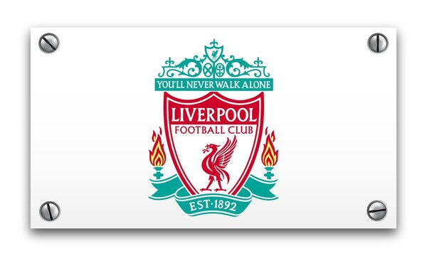 illustration of Liverpool FC logo isolated on a white plate. Football club concept.