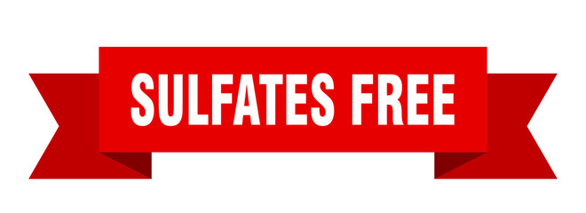 sulfates free ribbon. sulfates free isolated band sign. sulfates free banner Wall mural