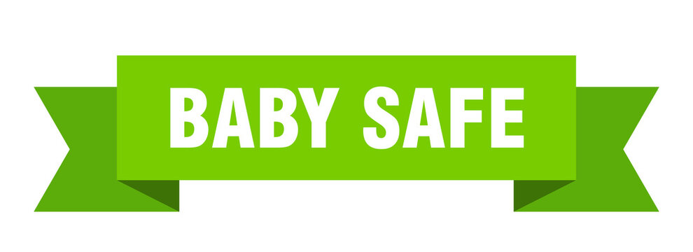 baby safe ribbon. baby safe isolated band sign. baby safe banner