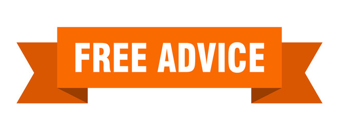 free advice ribbon. free advice isolated band sign. free advice banner Wall mural