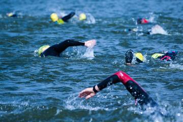 Fototapeta Triathlon pływanie jezioro
