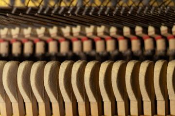 Obraz pianino makro wnętrze - fototapety do salonu