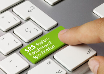 SRS system Requirement Specification - Inscription on Green Keyboard Key.
