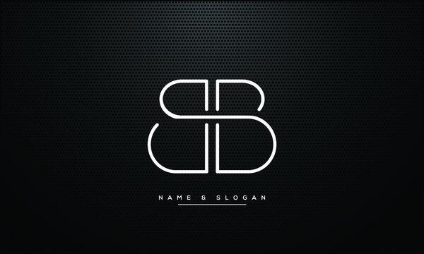 B ,BB   Abstract Letters Logo Monogram