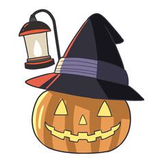 ハロウィンカボチャと三角帽子