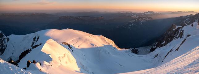Du Gouter à Chamonix Mont Blanc