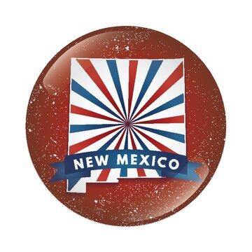 New Mexico map button