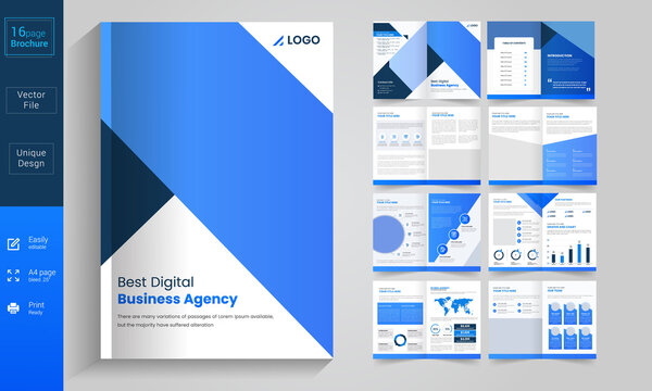 Creative business brochure template Premium Vector
