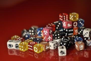 Fototapeta pionki z gry planszowej gameboard obraz