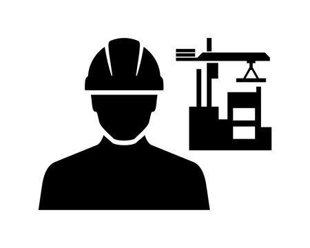 Construction Site Worker Vector Icon